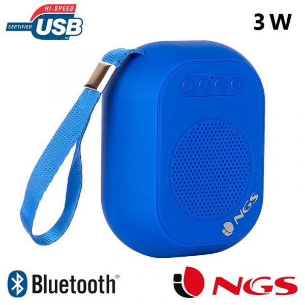 Altavoz Música Bluetooth Marca NGS Compacto Roller Dice Azul (3W) 1