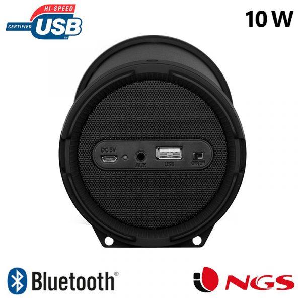 altavoz musica universal bluetooth marca ngs roller flow mini 10w2
