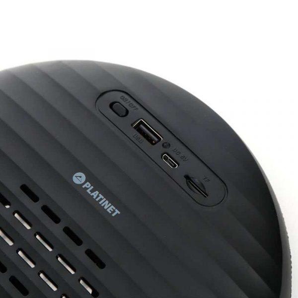 Altavoz Música Universal Bluetooth Marca Platinet Tela TWS (10W) Negro 2