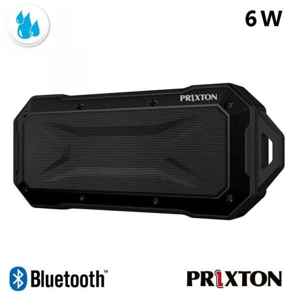 Altavoz Música Universal Bluetooth Marca Prixton Waterproof IP67 Negro (6W) 1