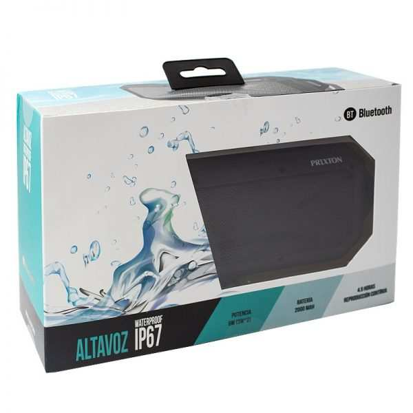 Altavoz Música Universal Bluetooth Marca Prixton Waterproof IP67 Negro (6W) 4