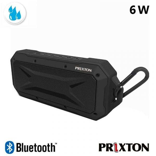 Altavoz Música Universal Bluetooth Marca Prixton Waterproof IP67 Negro (6W) 2