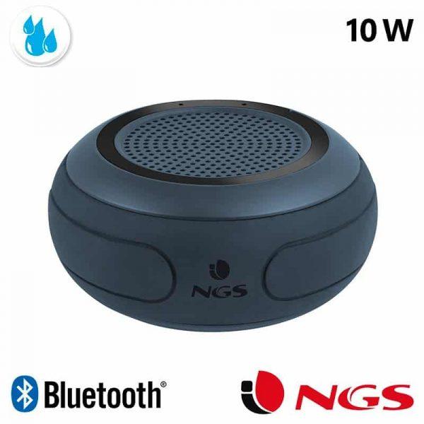 Altavoz Música Universal Bluetooth Marca Roller NGS Waterproof IPX7 Negro (10W) 1