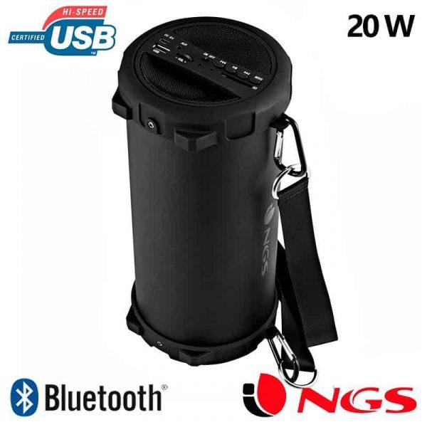 Altavoz Música Universal Bluetooth NGS Roller Flow (20W) 1
