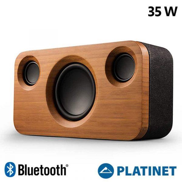 Altavoz Música Universal Bluetooth Platinet Fashion Edition Bamboo (35W) 1