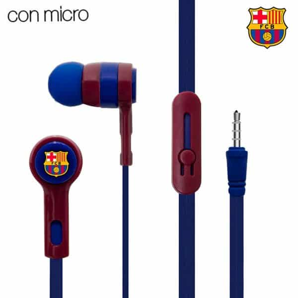 auriculares 35 mm stereo licencia futbol fc barcelona 2