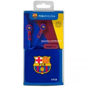 auriculares 35 mm stereo licencia futbol fc barcelona