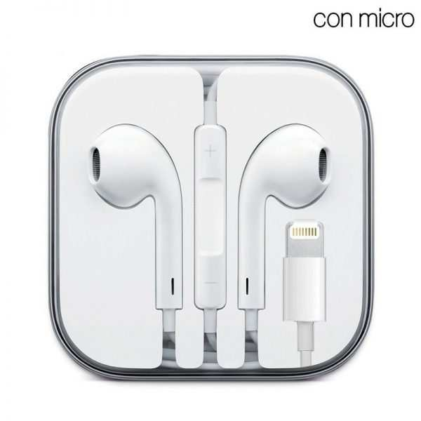 auriculares blancos stereo con micro iphone 7 8 x lightning bluetooth 1