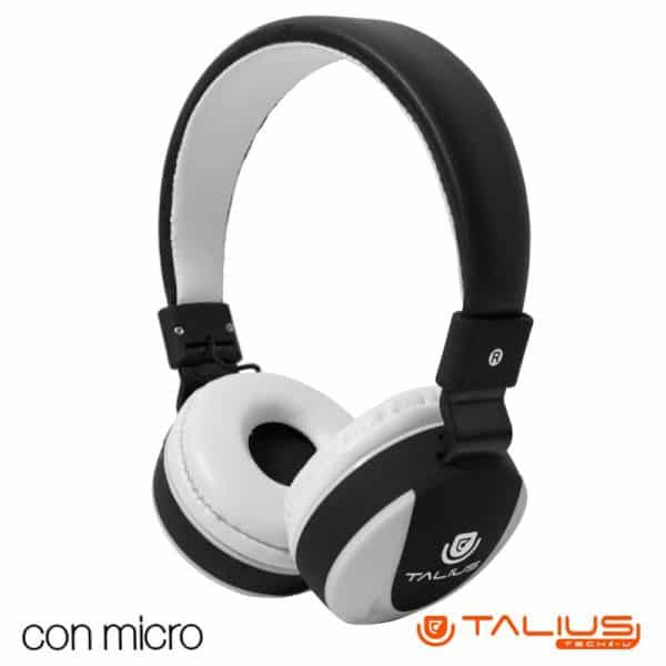 Auriculares Cascos HP5005 Talius (Cable Jack 3.5 mm) Blanco-Negro 1