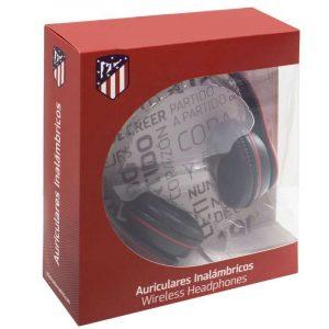 auriculares stereo bluetooth cascos licencia futbol atletico de madrid