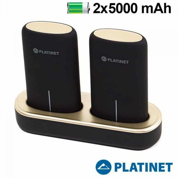 Bateria Externa Micro-usb Power Bank 5000 mAh x2 uds + (Estación de Carga Magnética) Platinet 1