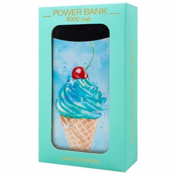 Bateria Externa Micro-usb Power Bank 6000 mAh Dibujos Helado 3