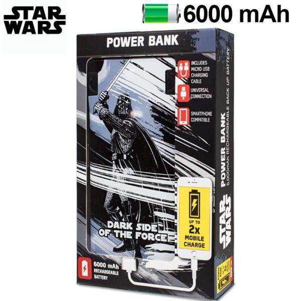 Bateria Externa Micro-usb Power Bank 6000 mAh Licencia Star Wars Darth Vader 1