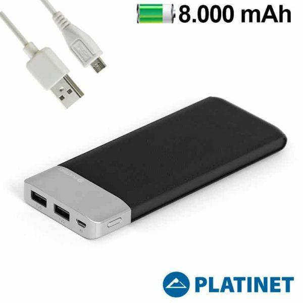 Bateria Externa Micro-usb Power Bank 8000 mAh Platinet Polipiel + Metal (Polímero) 1