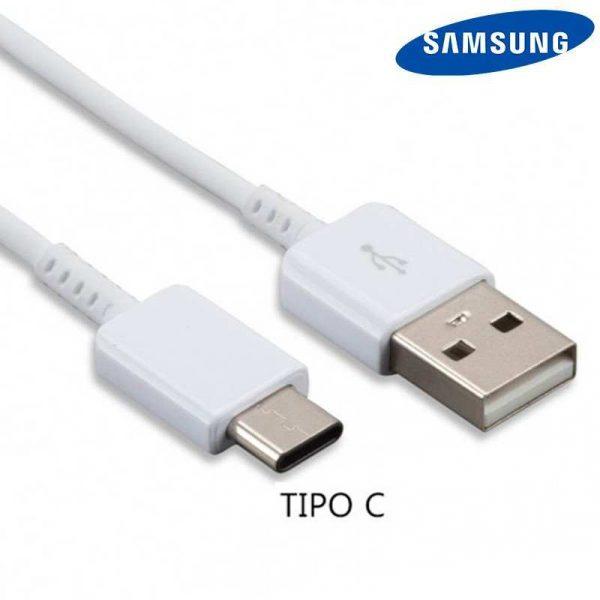 cable usb original samsung universal tipo c blanco sin blister 1