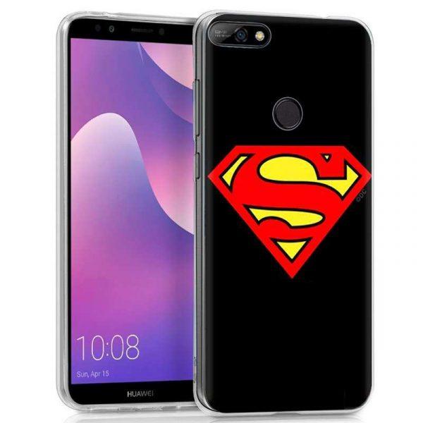 carcasa huawei y7 2018 honor 7c licencia dc superman
