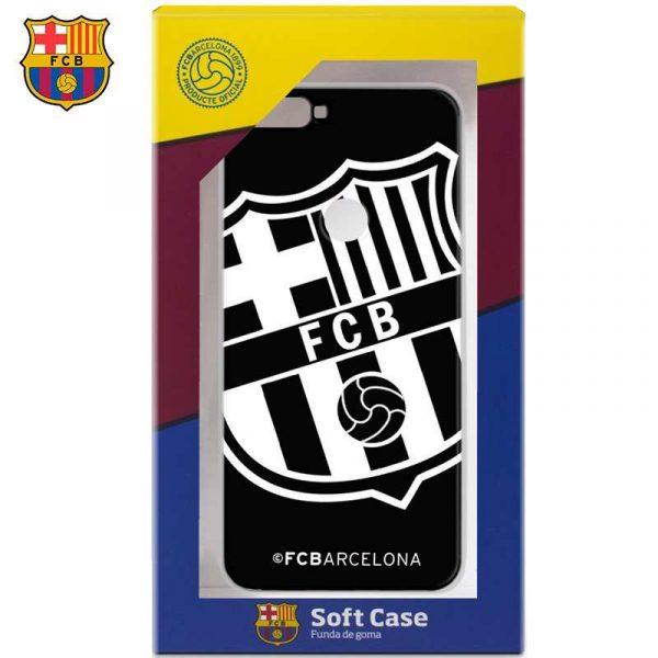carcasa huawei y7 2018 honor 7c licencia futbol fc barcelona negro 1
