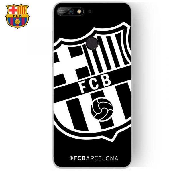 carcasa huawei y7 2018 honor 7c licencia futbol fc barcelona negro