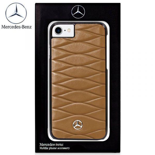 carcasa iphone 6 6s licencia mercedes benz piel marron