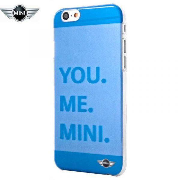 carcasa iphone 6 6s licencia mini cooper letras azul 1