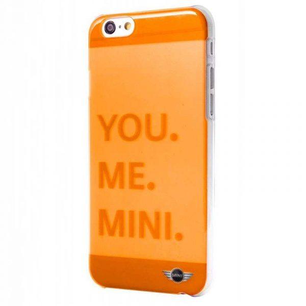 carcasa iphone 6 6s licencia mini cooper letras naranja