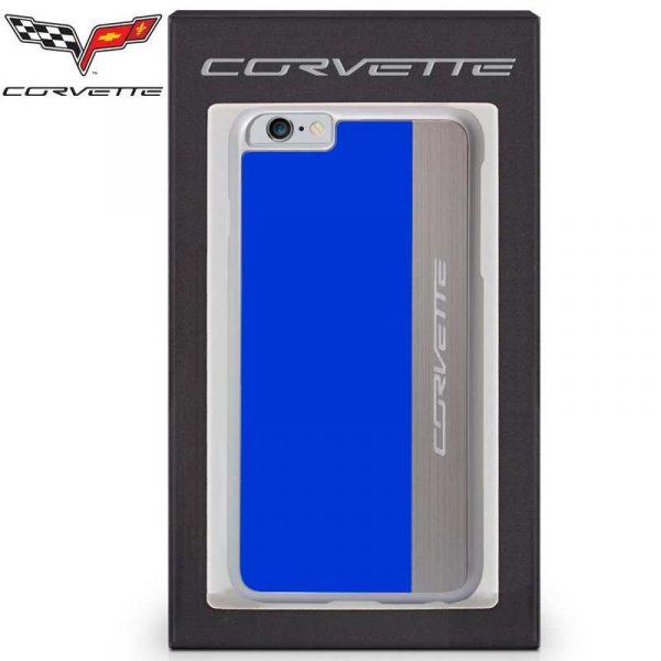 carcasa iphone 6 plus 6s plus licencia corvette azul