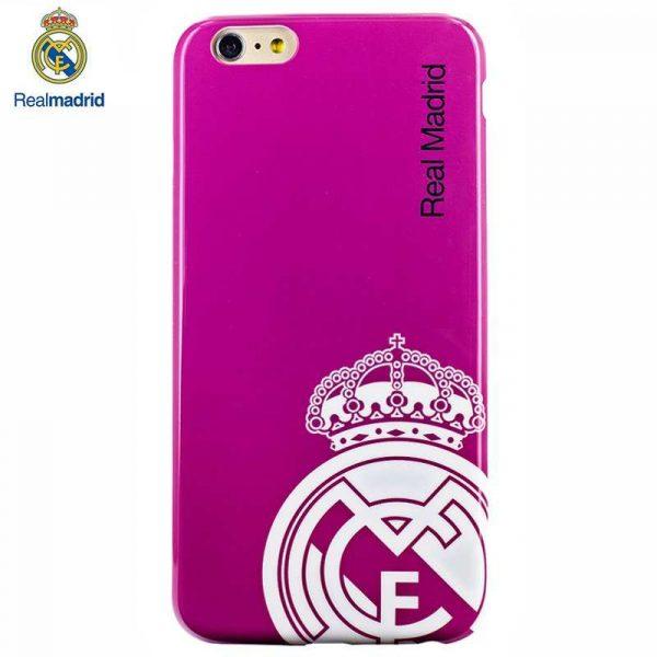 Carcasa IPhone 6 Plus / 6s Plus Licencia Fútbol Real Madrid Rosa 1
