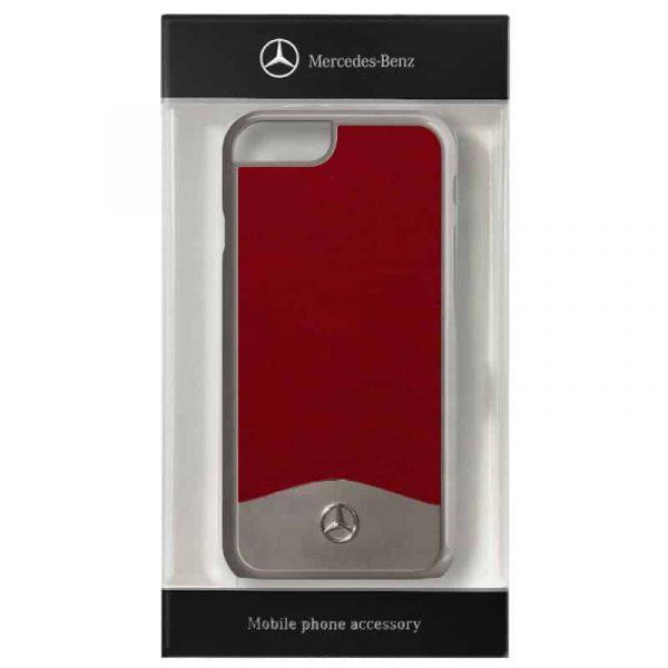 carcasa iphone 7 iphone 8 licencia mercedes benz aluminio rojo 2
