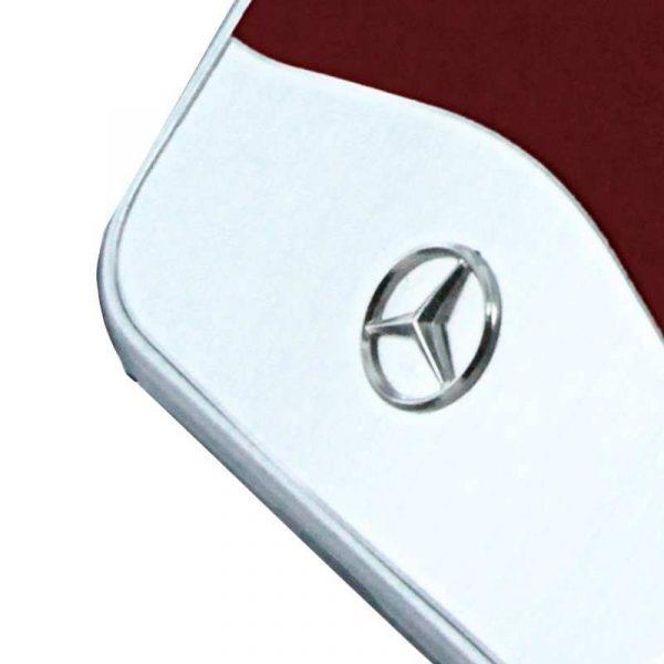 carcasa iphone 7 iphone 8 licencia mercedes benz aluminio rojo