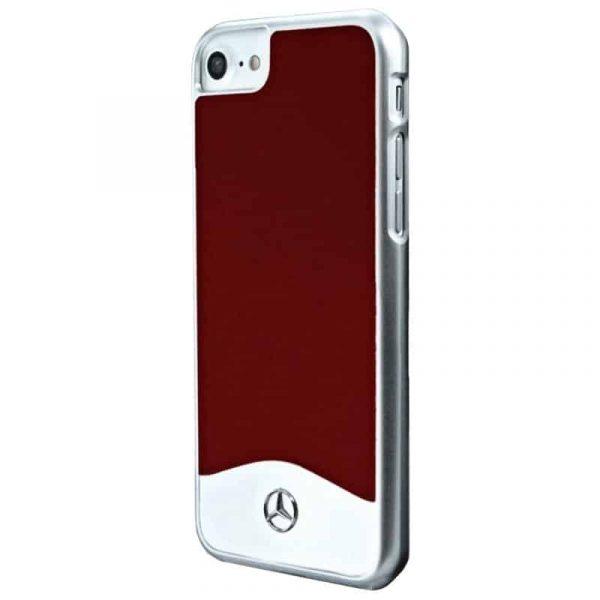 carcasa iphone 7 iphone 8 licencia mercedes benz aluminio rojo2