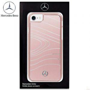 carcasa iphone 7 iphone 8 licencia mercedes benz metal rosa 1