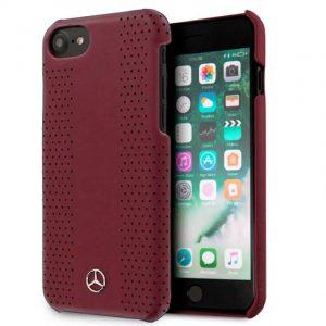 carcasa iphone 7 iphone 8 licencia mercedes benz piel hard rojo 1