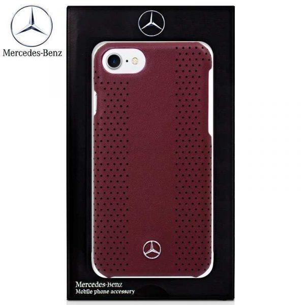 carcasa iphone 7 iphone 8 licencia mercedes benz piel hard rojo