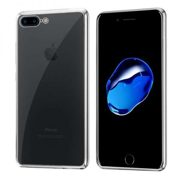 carcasa iphone 7 plus iphone 8 plus borde metalizado plata 1
