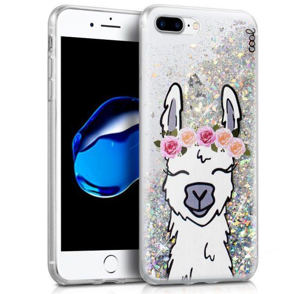 Carcasa iPhone 7 Plus / iPhone 8 Plus Glitter Llama 1