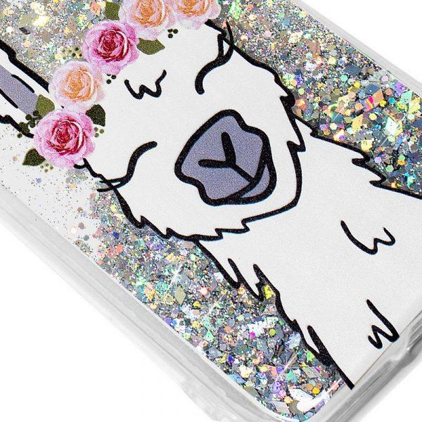 Carcasa iPhone 7 Plus / iPhone 8 Plus Glitter Llama 2