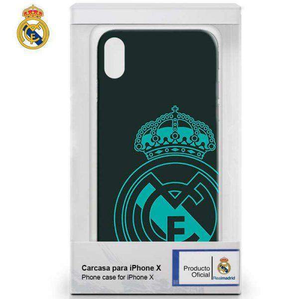 carcasa iphone x iphone xs licencia futbol real madrid verde oscuro