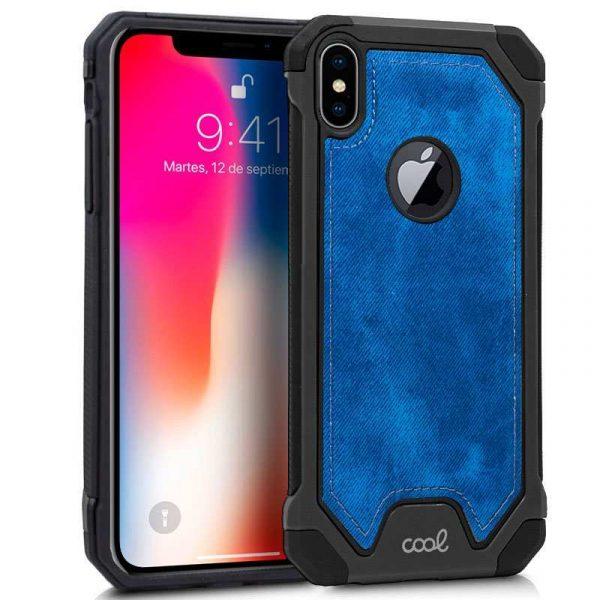 carcasa iphone xs max hard tela azul 1
