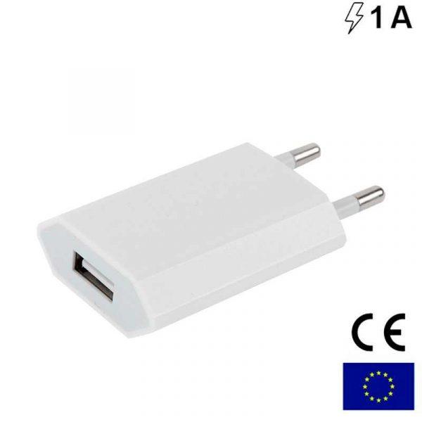 Cargador Red Universal Entrada 1 x USB 1 Amperio Blanco 1