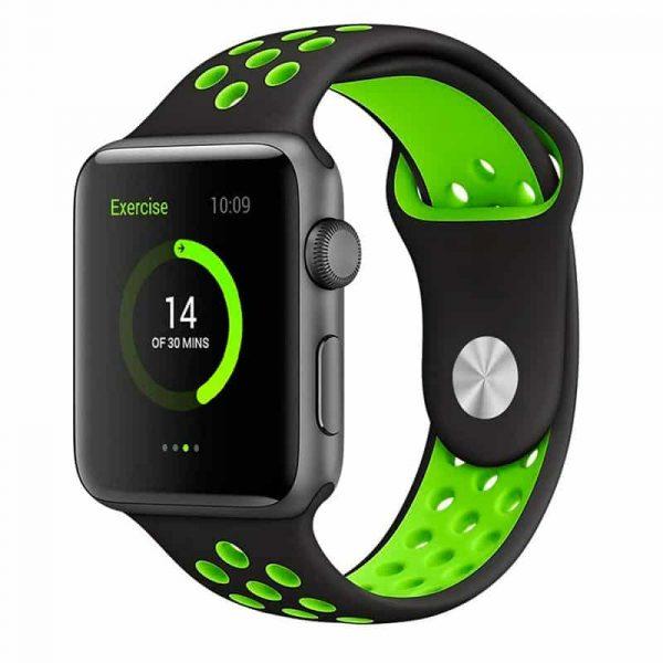correa apple watch series 1 2 3 4 38 40 mm sport negro 2