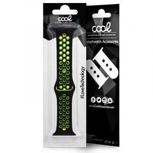 correa apple watch series 1 2 3 4 38 40 mm sport negro