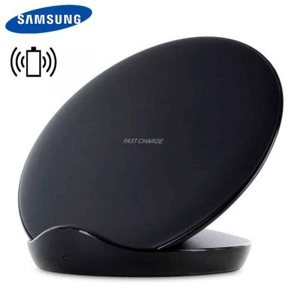 Dock Base Cargador Inalámbrico Qi Samsung Original (Carga Rápida) Negro (Con Blister) 1