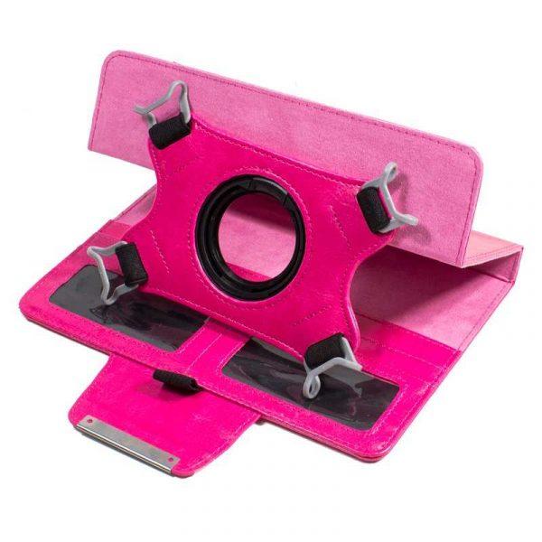 funda ebook tablet 8 pulgadas liso rosa giratoria 1