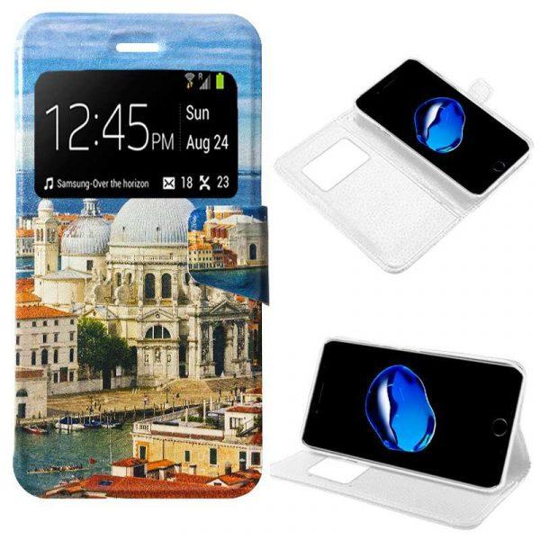 funda flip cover iphone 7 iphone 8 dibujos city