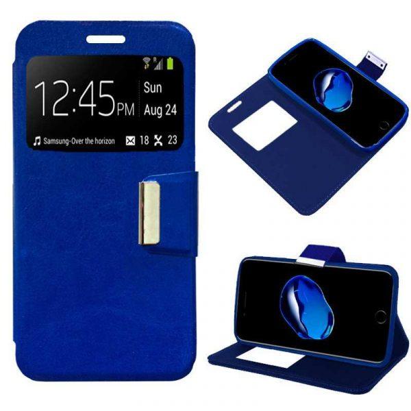 funda flip cover iphone 7 plus iphone 8 plus liso azul