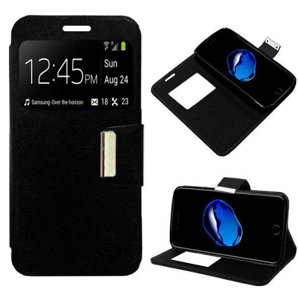funda flip cover iphone 7 plus iphone 8 plus liso negro