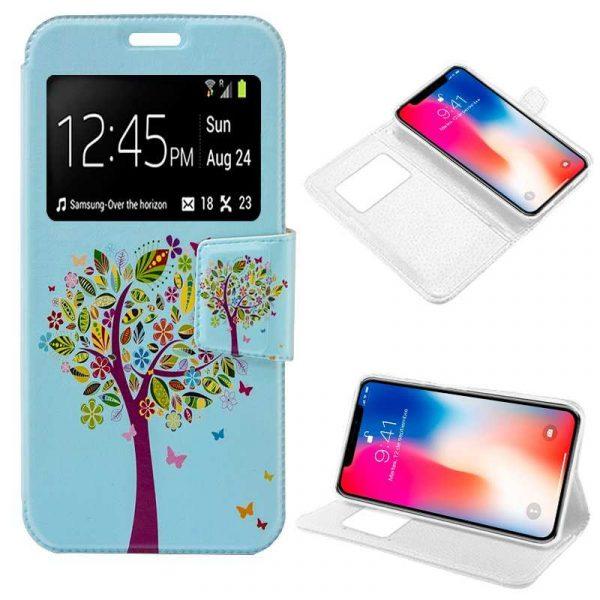 funda flip cover iphone x iphone xs dibujos arbol