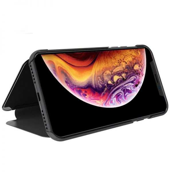 funda flip cover iphone xs max clear view negro 1