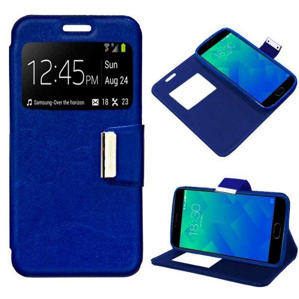 Funda Flip Cover Meizu M5 Liso Azul 1