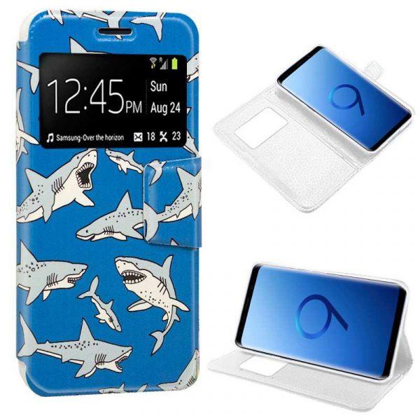 funda flip cover samsung g960 galaxy s9 dibujos tiburon